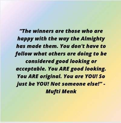 quotes on comparison by Mufti Menk