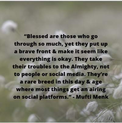 hardship quotes by mufti menk