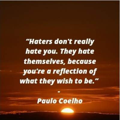 positive quotes on haters