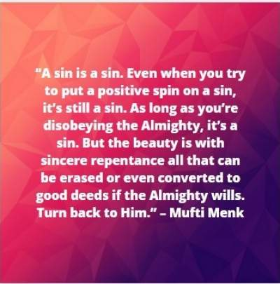 quotes on sin and forgiveness by Mufti Menk
