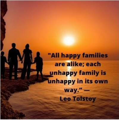 happy family quotes by Leo Tolstoy