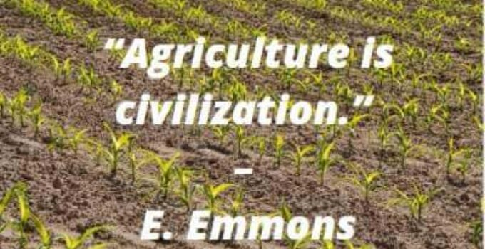 quotes on agriculture is the civilization