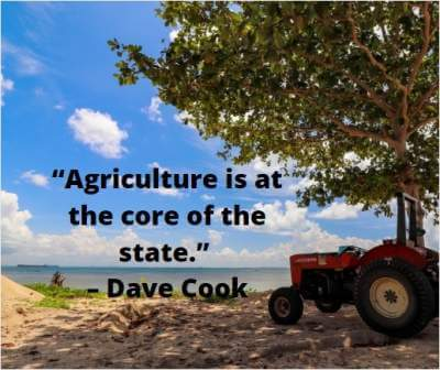 quotes on agriculture is core of the state